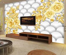 3D Weiße Perlen, Blumen 199 Fototapeten Wandbild Fototapete BildTapete FamilieDE