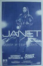 "JANET JACKSON 2007 ""ROCK WITCHU TOUR"" SAN DIEGO CONCERT POSTER - Sexy Hip Hop!"