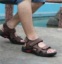 Mens Leather Sandals Summer Open Toe Sandles Sport Sandal Hiking Shoes Size RWBN