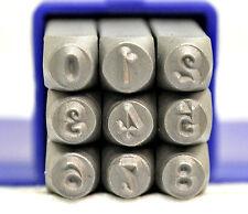 SUPPLY GUY Script/Kristen/Modern/Typewriter or Dotz Font Metal Stamp Number Set