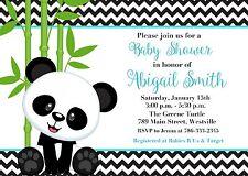 Panda Baby Shower, Boy, Boy Panda, Panda Bear, Baby Shower, Invitation