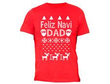 Feliz Navidad Navi Dad - UGLY CHRISTMAS sweater shirt Snowflake T-shirt Red