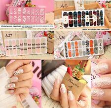 12-20pcs Lace Nail Art Foils Patch Stickers Adhesive Decals Manicure Tip Wrap