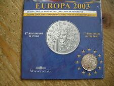 Frankrijk 1/4 EURO ZILVER in BU set 2003
