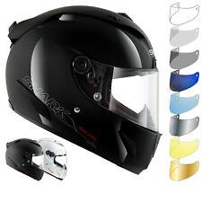 Shark Race-R Pro Blank Motorcycle Helmet & Visor Full Face Bike Racing Crash Lid