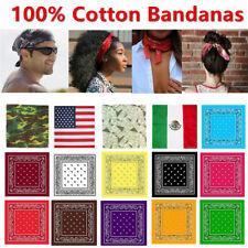 Lot 3 6 12 Wholesale 100 Cotton Bandana Head Wrap Hair Band Respirator Scarf