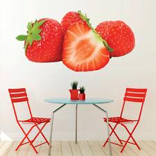 Rode aardbeien Vers fruit Muursticker WS-46784