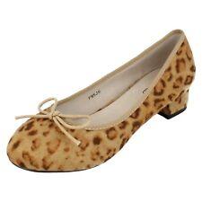 Donna F9526 Con leopardo tessuto slip-on decolleté con fiocco By spot on
