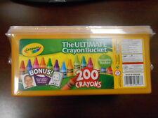 BRAND NEW Crayola 200 Crayons - The Ultimate Crayon Reusable Bucket Great 4 kids