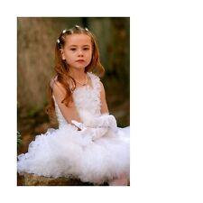 New KAIYA EVE White Ruffled Fluff Pettiskirt skirt 4, 6, 8, 10 made in USA PS301