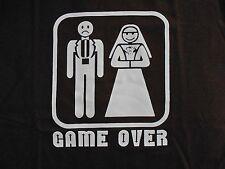 Mens Funny Tshirt Game Over Wedding