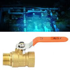 Brass Pipe Ball Valve Male and Female Thread DN15 / DN20