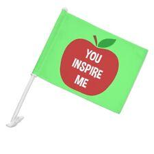 You Inspire Me Teacher Apple Car Truck Flag with Window Clip On Pole Holder