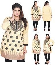 Reino Unido stock-además de los tamaños de Mujer Camisa Túnica india Kurti Kurta Pakistaní EPLUS en forma 117B