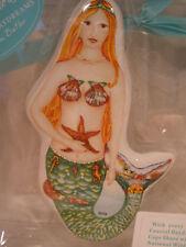 Ornament Mermaid Ceramics Green Orange Cape Shore New