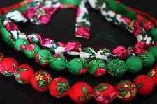 Folk necklace corals HandMade bracelet Zakopane Poland