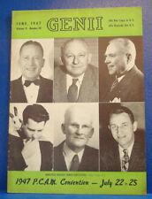 June 1947 Genii Mag./Magic/Seattle Magic Ring Magicians