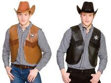 Vaquero Lejano Oeste CHALECO SHERIFF Accesorio de DISFRAZ HOMBRE MUJER
