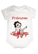 Body bébé fille betty boop personnalisé avec prénom réf 26
