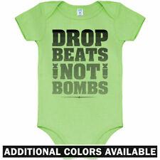 Drop Beats Not Bombs One Piece - EDM Dance Ska Baby Infant Creeper Romper NB-24M