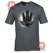 Altavoz DJ Club Música Premium Printed T-shirt. fiestas raves festivales y clubes