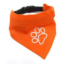 PAÑUELO perro con Collar 2 en 1 Pata NARANJA Pañuelos para cuellos de perro