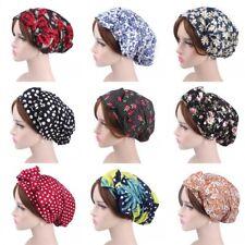 Femmes 100% Coton Imprimer Musulman Casquettes Islamique Chapeaux Arabe Turban