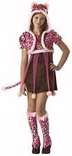 KUTIE KITTEN Girls Tween Costume Cat Outfit Animal Adorable Teen M 10/12 L 12/14