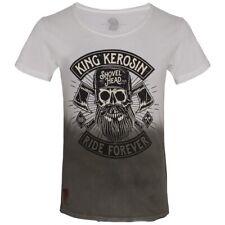 King Kerosin Dip-Dye T-Shirt - Lumberjack Olivgrün