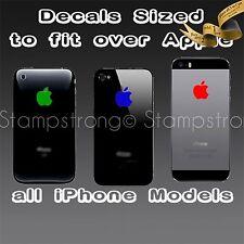 ( 4x ) Apple Logo Skin Sticker Decal Vinyl Film for iPhone 3 4 4S 5 5C 5S CUSTOM