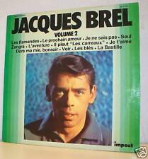 33 tours Jacques BREL LP Vinyle Les FLAMANDES Volume 2 IMPACT 6371 150 F Rèduit