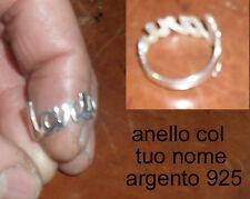 anello personalizzato argento 925 nome anna dicci la  tua misura via mail