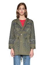 Desigual Khaki Mariette Embroidered Parka Jacket Coat 36-46 UK 8-18 RRP �159