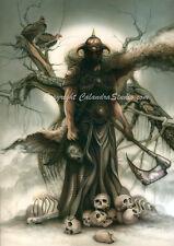 "Original Calandra Fantasy Art - Frazetta Tribute ""Death Dealer"""