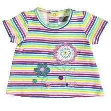 bóboli fille t-shirt fleurs rayé gr. 86 92 98 104