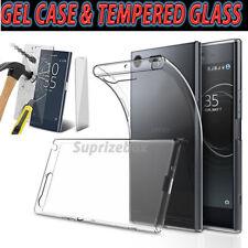 Ultra Fin Transparent étui coque gel & verre trempé pour Sony Xperia XZ1 XZ XA2