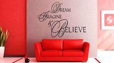 Wall Sticker Dream Imagine Believe quote lounge kitchen Vinyl wall art Decal