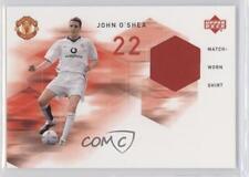2002 Upper Deck Manchester United Match Worn Shirts #JO-MWS John O'Shea Card
