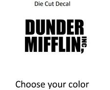 "Dunder Mifflin Sticker Decal for Window, Laptop, Car | The Office TV Show 6"""