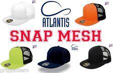 ATLANTIS Cappello SNAP MESH cappellino RAPPER visiera piatta TRUCKER caps hats #