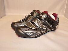 Giro Solara Women's Road Cycling Shoes Gunmetal/Berry 3 bolt cleats NEW!