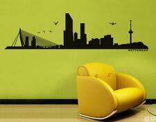 Wandtattoo Rotterdam Skyline Wohnzimmer Arbeitszimmer uss046 Wandaufkleber Flur