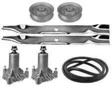 Husqvarna LT 1238 1538 Mower Deck Parts Kit Spindles Blades Belt FREE Shipping