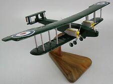 Handley Page 0-400 Bi-Plane Bomber WWI Airplane Wood Model Free Shipping