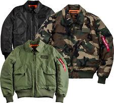 Alpha Industries CWU VF TT hombre chaqueta de AVIADOR BOMBARDERO Clásica PILOT