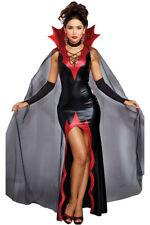 NUOVO Sexy Nero sive REGINA SPACCANDO Halloween Costume 8 10 12 14 UK
