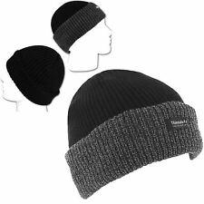 Da Uomo Thinsulate Cappello A Coste Con Fodera Termica Isolata Beanie in maglia a trama grossa da sci