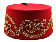 5e1f0db40562 Fez Fes Turkish Ottoman Hat Tarboosh Ottoman Wear Bordaux RED B FREE  SHIPPING