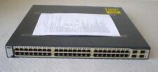 Cisco Catalyst ws-c3750g-48ts-s 3750g accesorios completo con protocolo de función