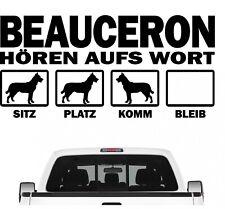 Beauceron Schäferhund Hört aufs Wort Hunde Auto Aufkleber Autoaufkleber Hund Fol